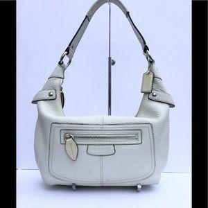 Coach Penelope off white pebble leather bag